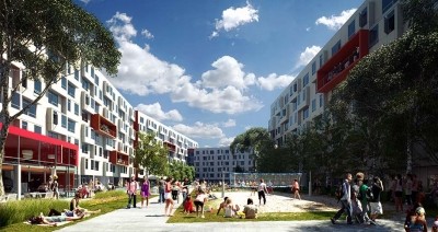 Graduate & Professional Students & Mixed-Use Housing East Campus Housing Project (LEED Gold)
